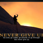 "What ""Not giving up"" actually means"
