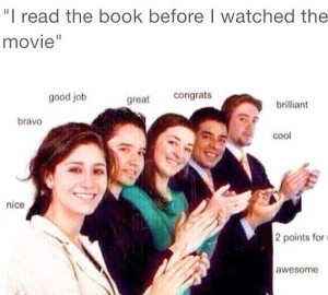 read the book before the movie